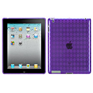 *SALE* Argyle Flexi Gel Case for iPad 2, iPad 3 and iPad 4th Generation - Purple