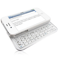 *SALE* Naztech Ultra-Thin Sliding Bluetooth Keyboard Hard Case for iPhone 4 / 4S - White