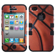 Military Grade TUFF Image Hybrid Case and Screen Protector for iPhone 4 / 4S - Basketball