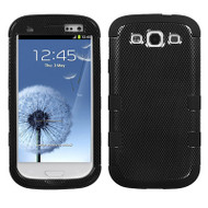 Military Grade Certified TUFF Image Hybrid Case for Samsung Galaxy S3 - Carbon Fiber