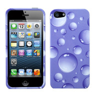 Snap-On Protective Image Case and Screen Protector for iPhone SE / 5S / 5 - Bubbles Purple