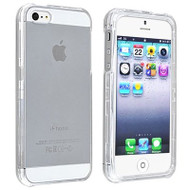 *CLEARANCE* Snap-On Crystal Case and Screen Protector for iPhone SE / 5S / 5 - Clear