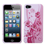 Snap-On Protective Image Case and Screen Protector for iPhone SE / 5S / 5 - Blooming Lily