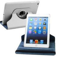 *SALE* 360 Rotating Leather Hybrid Smart Case for iPad Mini - White