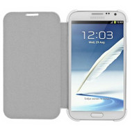 Book-Style Hybrid Case for Samsung Galaxy Note II - White