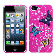 Snap-On Protective Image Case and Screen Protector for iPhone SE / 5S / 5 - Spring Butterfly
