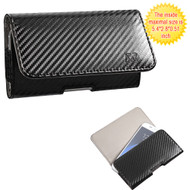 Leather Folio Hip Case - Carbon Fiber