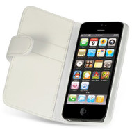 *SALE* Premium Leather Wallet and Screen Protector for iPhone SE / 5S / 5 - White