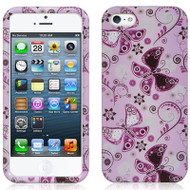 *CLEARANCE* Snap-On Protective Image Case and Screen Protector for iPhone SE / 5S / 5 - Lady Butterfly