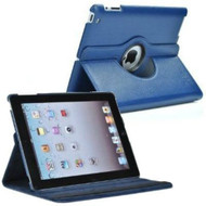 *SALE* Smart Rotary Leather Case for iPad 2, iPad 3 and iPad 4th Generation - Blue