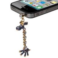 Headphone Jack Dust Cap Pendant Jewelry (Giraffe Black)