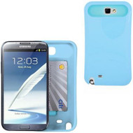 Hidden Card Case for Samsung Galaxy Note II (Baby Blue)