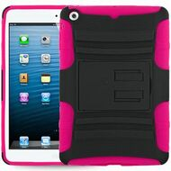 *SALE* Advanced Armor Hybrid Kickstand Case for iPad Mini - Black Hot Pink