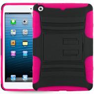 *SALE* Advanced Armor Hybrid Kickstand Case for iPad Mini - Black Hot Pink