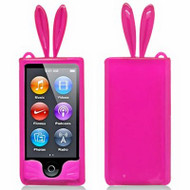 *Sale* Bunny Ears Gelli Cover for iPod Nano 7th Generation (Hot Pink)