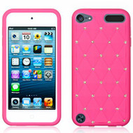 Bling Diamond Silicone Gel Case for iPod Touch 5th / 6th Generation - Hot Pink