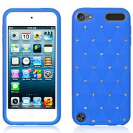 Bling Diamond Silicone Gel Case for iPod Touch 5th / 6th Generation - Blue