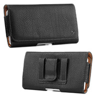 Professional Leather Folio Case - Black