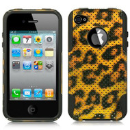 Astronoot Multi-Layer Hybrid Case and Screen Protector for iPhone 4 / 4S - Leopard
