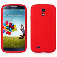 Premium Silicone Skin Cover for Samsung Galaxy S4 - Red