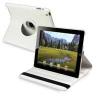 *SALE* Smart Rotary Leather Case for iPad 2, iPad 3 and iPad 4th Generation - White