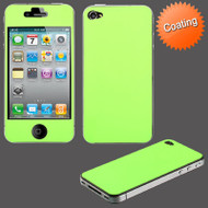 Color Coating Anti-Glare Screen and Backside Protector for iPhone 4 / 4S - Green