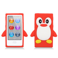 Penguin Silicone Cover for iPod Nano 7th Generation (Red)