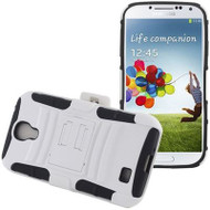*SALE* Advanced Armor Hybrid Kickstand Case with Holster for Samsung Galaxy S4 (White)