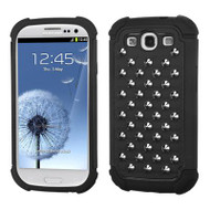 TotalDefense Metal Stud Hybrid Case for Samsung Galaxy S3 - Black