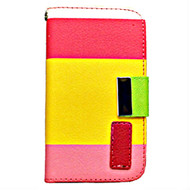 *DAILY DEAL* MyWallet Leather Kickstand Case and Screen Protector for iPhone 4 / 4S - Pink Yellow