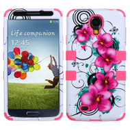 *SALE* Military Grade TUFF Image Hybrid Case for Samsung Galaxy S4 (Morning Petunias)