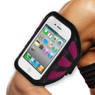 Mesh Sport Armband for iPhone SE / 5S / 5C / 5 - Hot Pink