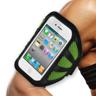 *DAILY DEAL* Mesh Sport Armband for iPhone SE / 5S / 5C / 5 - Green