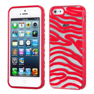 HybridFlex Fusion Case and Screen Protector for iPhone SE / 5S / 5 - Zebra Red