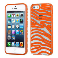 HybridFlex Fusion Case and Screen Protector for iPhone SE / 5S / 5 - Zebra Orange