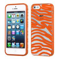 HybridFlex Fusion Case and Screen Protector for iPhone SE / 5S / 5 - Zebra Orange