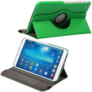 *DAILY DEAL* Rotary Leather Hybrid Case for Samsung Galaxy Tab 3 8.0 - Green