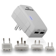 Naztech N230 International Dual USB AC Charger 3.1A - White