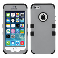 Military Grade Certified TUFF Hybrid Case for iPhone SE / 5S / 5 - Grey