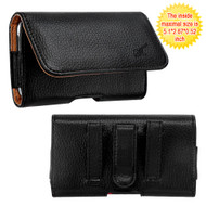 Leather Folio Hip Case - Napa Black