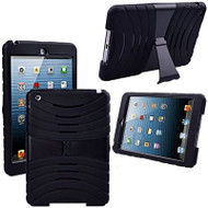Shockproof Armor Kickstand Case for iPad Air - Black