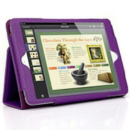 *SALE* Leather Portfolio Smart Case for iPad Air - Purple