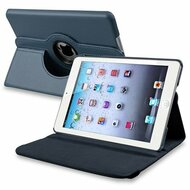 *SALE* 360 Degree Smart Rotary Leather Case for iPad (2017) / iPad Air - Navy Blue