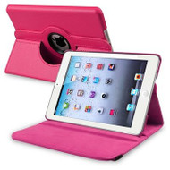 *SALE* 360 Degree Smart Rotary Leather Case for iPad (2017) / iPad Air - Hot Pink