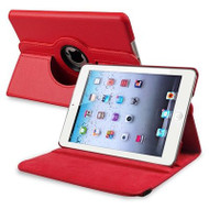 *SALE* 360 Degree Smart Rotary Leather Case for iPad (2017) / iPad Air - Red