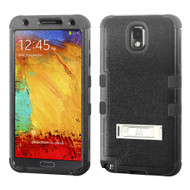 Military Grade Certified TUFF Hybrid Kickstand Armor for Samsung Galaxy Note 3 - Black