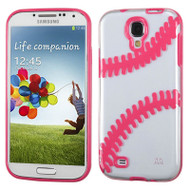 Tentacles Hybrid Case for Samsung Galaxy S4 - Baseball Hot Pink