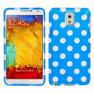 *Sale* Snap-On Protective Image Case for Samsung Galaxy Note 3 - Polka Dots Blue