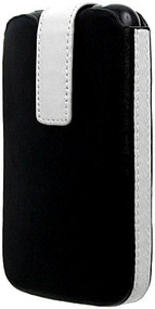 Slider Leather Sleeve for iPhone 3G / 3GS and iPod Touch - Black White
