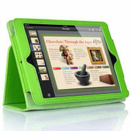 *SALE* Leather Portfolio Smart Case for iPad Air - Apple Green